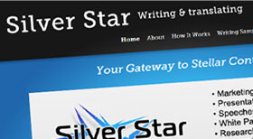 Silver Star Writing and Translating Joomla 2.5 CMS Website designed by jigster.com